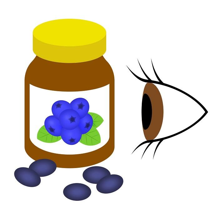 眼に効くブルーベリーのサプリメント